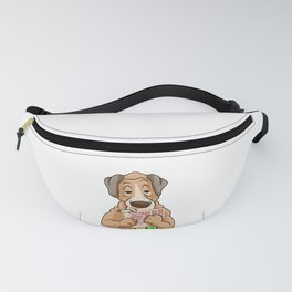 Dog at Poker with Poker cards and Poker chips Fanny Pack