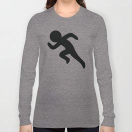 Running Stickfigure Long Sleeve T-shirt
