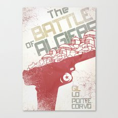 Battle of Algiers, Alternative Movie Poster Canvas Print