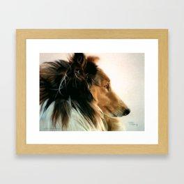 Lassie of The Hill Framed Art Print