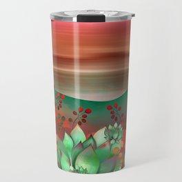 """Naif tropical colorful landscape"" Travel Mug"