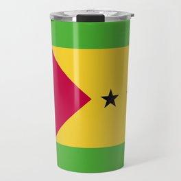 Sao Tome and Principe flag emblem Travel Mug