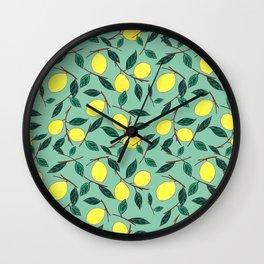 Lemon lemonade Wall Clock
