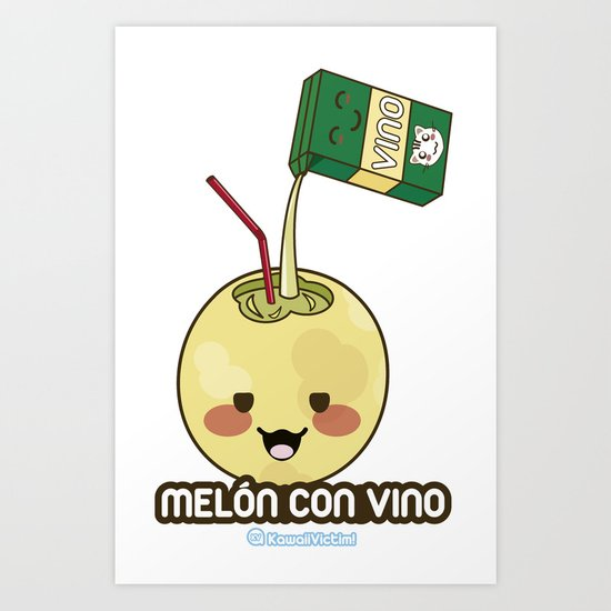 Melón con Vino Art Print