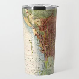 Vintage Map of Burlington Vermont (1872) Travel Mug
