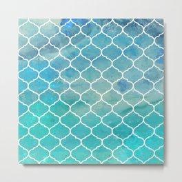 Under the Shimmering Sea Tile Pattern Metal Print