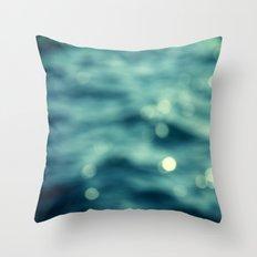 Bokeh Water Throw Pillow