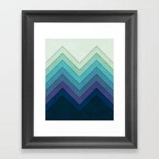 Retro Chevrons 001 Framed Art Print