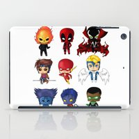 nightcrawler iPad Cases featuring Chibi Heroes Set 2 by artwaste