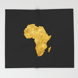 Gold Africa Throw Blanket