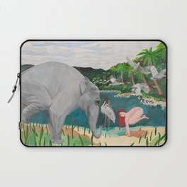 BORN ON THE WETLANDS Laptop Sleeve