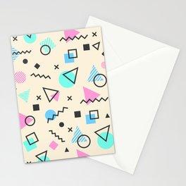 Retro Memphis Geometric Pattern Stationery Cards