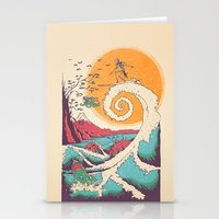 surfer Stationery Cards featuring Surf Before Christmas by Victor Vercesi