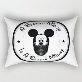 Bearded Mickey Mouse Rectangular Pillow