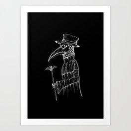 Plague Doctor Art Print