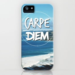 Carpe Diem Tropical Paradise iPhone Case