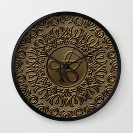 Decorative Ek Onkar / Ik Onkar  embossed on gold Wall Clock