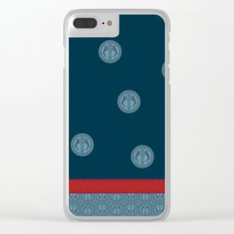 MEDIEVAL WEIMARANER WITH RED STRIPE Clear iPhone Case
