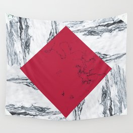 Red + Marble Wall Tapestry