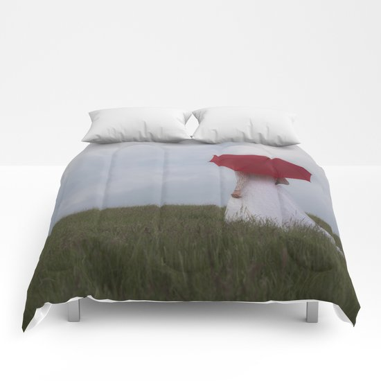 Red and White Comforters