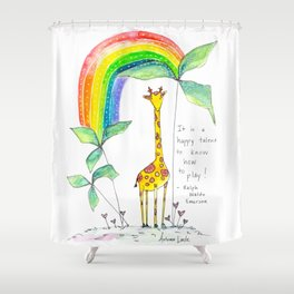 A Happy Talent Shower Curtain