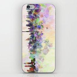 Dubai skyline in watercolor background iPhone Skin