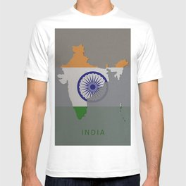 India, Outline, Map T-shirt