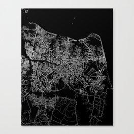 Virginia beach map Canvas Print