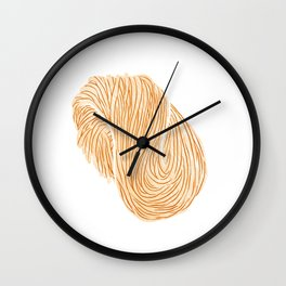 Watercolor Illustration of A bundle of raw noodles Wall Clock