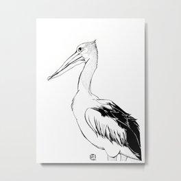Reginald the Pelican Metal Print
