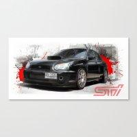 subaru Canvas Prints featuring Cars: Subaru WRX STI by Urbex :: Siam