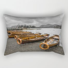 Boats at Derwent Water Rectangular Pillow