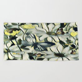 Spring Delight - Flowers And Butterflies Beach Towel