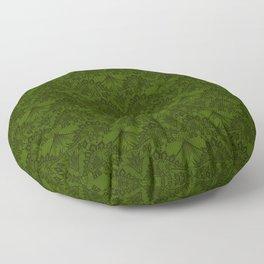 Stegosaurus Lace - Green Floor Pillow