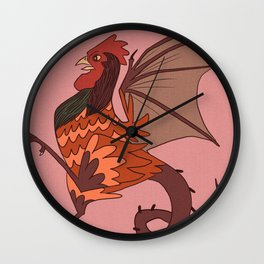 Year of the Cockatrice (Baba Nyonya) Wall Clock