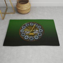 JPN clock Rug