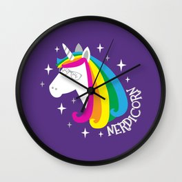 Nerdicorn Wall Clock