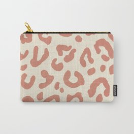 Pastel pink, leopart pattern print, boho chic, minimal  Carry-All Pouch