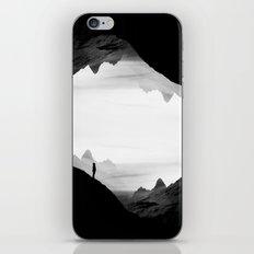 black wasteland isolation iPhone Skin