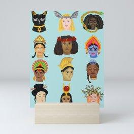 Goddesses Around the World Mini Art Print