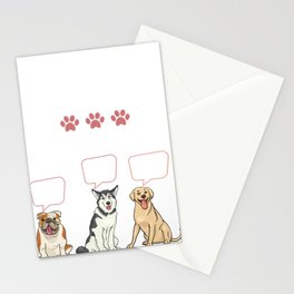 Funny Retro Vintage Dog Groomer Gift Stationery Cards