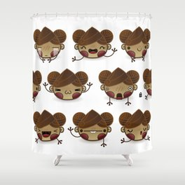 Chestnut Girl Mood Shower Curtain