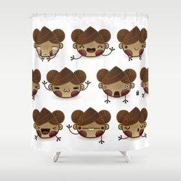 Chestnut Girl Mood Shower Curtain