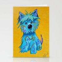 westie Stationery Cards featuring Westie dog by K.ForstnerArt