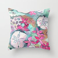 Ocean Garden Throw Pillow