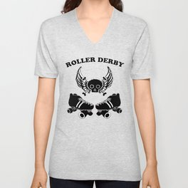 Roller Derby Wings Unisex V-Neck