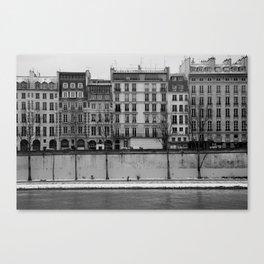 Les Quais de Seine // Paris, 2010 Canvas Print