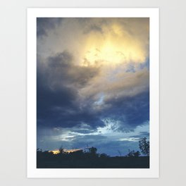 South Dakota Sunset Art Print