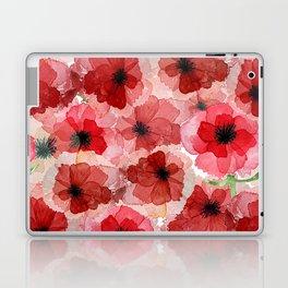 Pressed Poppy Blossom Pattern Laptop & iPad Skin