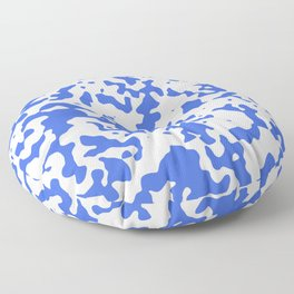 Spots - White and Royal Blue Floor Pillow